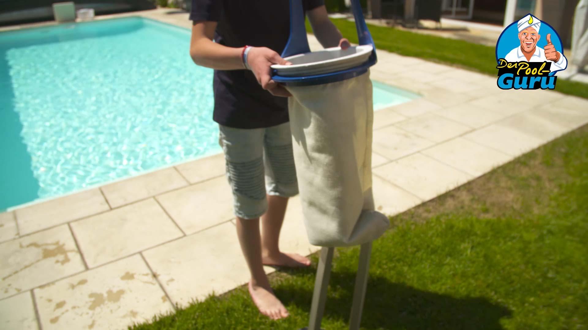 Filterreinigung Pool Filtersack