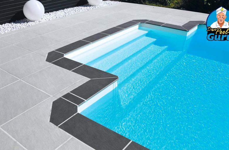 Treppe für Pool rechteckig