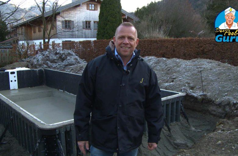 Pool aus Beton bauen
